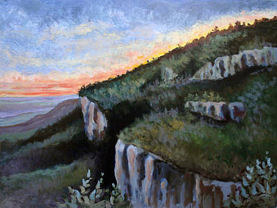 Painting - Blue Ridge Dream Panel 3 by Suzanne McKee