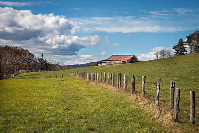 Photograph - Blue Ridge Farm Land by James Woody