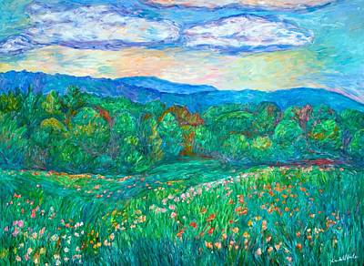 Painting - Blue Ridge Meadow by Kendall Kessler