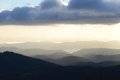 Photograph - Blue Ridge Morning Mist by Teresa Tilley