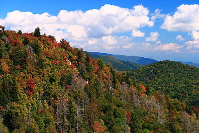 Photograph - Blue Ridge Mountain Autumn Vista by Carol Montoya