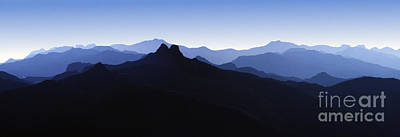 Photograph - Blue Ridge Mountain Southern California Panorama by David Zanzinger