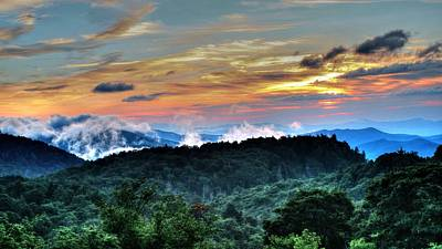Blue Ridge Mountain Sunrise  Art Print