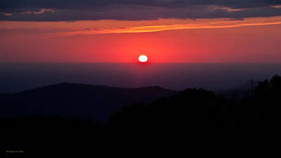 Photograph - Blue Ridge Mountain Sunrise by Suzanne Stout
