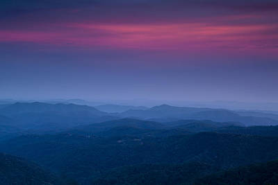 Twilight Views Photograph - Blue Ridge Mountain View by Andrew Soundarajan
