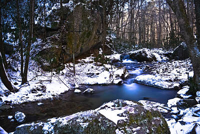 Franklin Tennessee Photograph - Blue Ridge Mountain Winter by Ryan Phillips