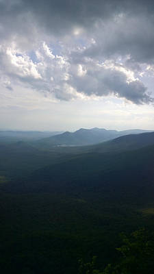 Photograph - Blue Ridge Mountains And Table Rock As Seen From Caesars Head State Park by Kelly Hazel
