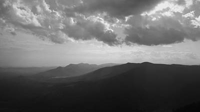 Photograph - Blue Ridge Mountains Caesars Head State Park In Black And White by Kelly Hazel