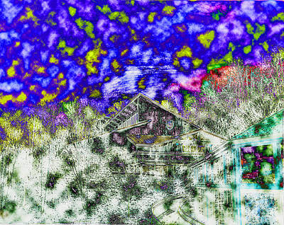 Digital Art - Blue Ridge Mountains Chalet by Luther Fine Art