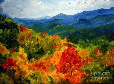 Blue Ridge Mountains In Fall Art Print