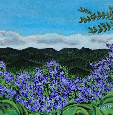 Painting - Blue Ridge Mountains by Manny Chapa