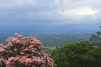 Photograph - Blue Ridge Mountains Mountain Laurel And Thunderstorm by John Burk
