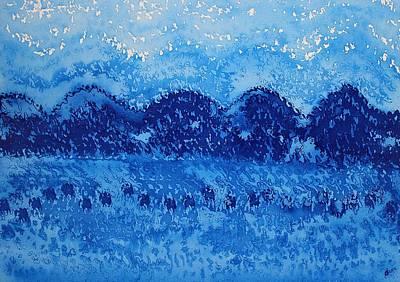 Blue Ridge Original Painting Art Print by Sol Luckman