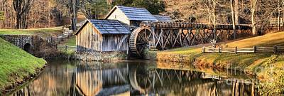 Photograph - Blue Ridge Parkway - Mabry Grist Mill by Adam Jewell
