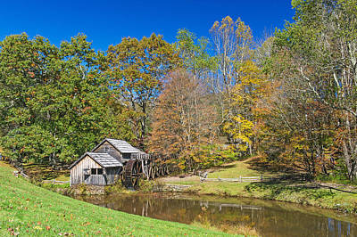 Photograph - Blue Ridge Parkway   Mabry Mill by Willie Harper