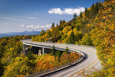 Blue Ridge Parkway Linn Cove Viaduct - North Carolina Art Print