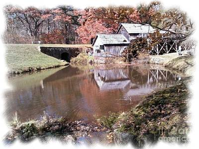 Digital Art - Blue Ridge Parkway Mabry Mill  by Angelia Hodges Clay