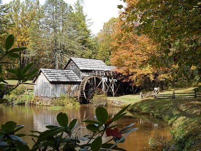 Photograph - Blue Ridge Parkway Mabry Mill In Autumn by Diannah Lynch