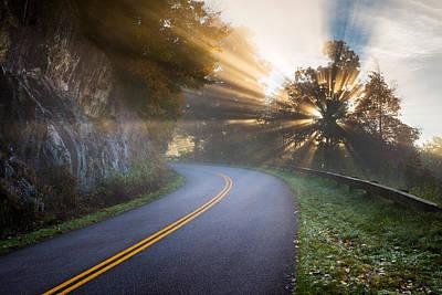Light Rays Photograph - Blue Ridge Parkway North Carolina by Dave Allen