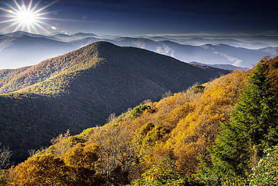 Photograph - Blue Ridge Parkway North Carolina by Gray  Artus