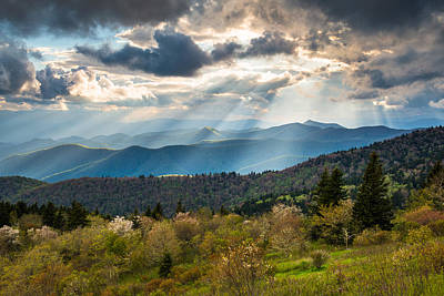 Mountain Royalty-Free and Rights-Managed Images - Blue Ridge Parkway North Carolina Mountains Gods Country by Dave Allen