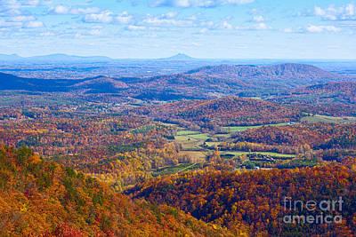 Photograph - Blue Ridge Parkway Overlook by Les Palenik