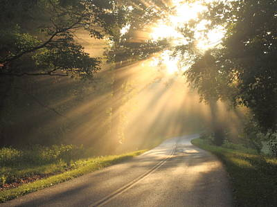 Photograph - Blue Ridge Parkway Sun Rays by John Burk
