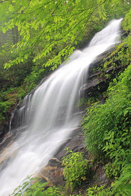 Photograph - Blue Ridge Parkway Waterfall Jeffress Park Virginia by John Burk