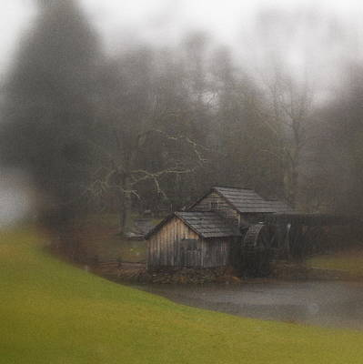 Photograph - Blue Ridge Parkway's Mabry Mill On A Rainy Day by Diannah Lynch