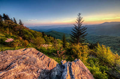 Blue Ridge Sunset Art Print by Doug McPherson