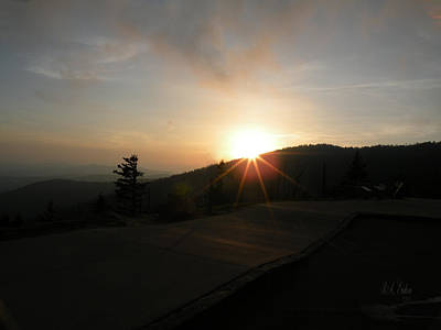 Photograph - Blue Ridge Sunset - Going Down by Becky Erickson