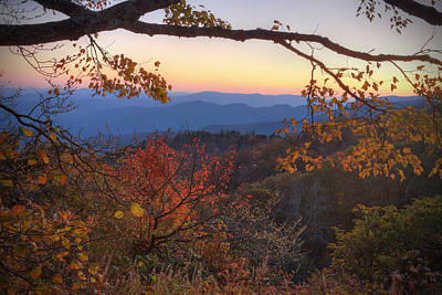 Blue Ridge Sunset Art Print by Jaki Miller