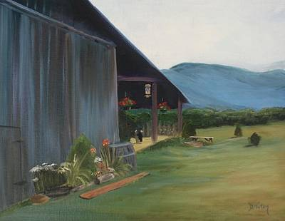 Blue Ridge Vineyard Print by Donna Tuten