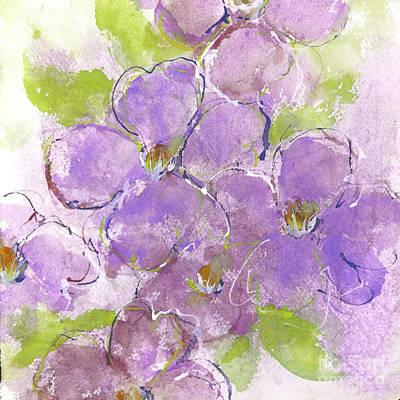 Blue Ridge Violets I Art Print