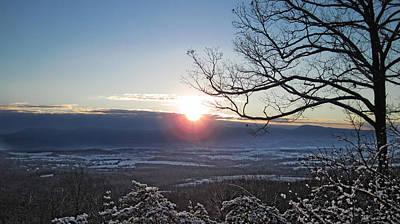 Photograph - Blue Ridge Winter's Dawn by Lara Ellis