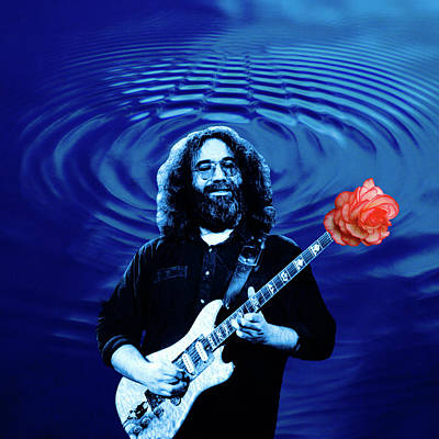 Jerry Garcia Photograph - Blue Ripple From A Red Rose by Ben Upham