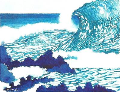 Painting - Blue Roar by Frances Ku