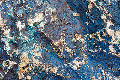 Photograph - Blue Rock Abstract by Chris Scroggins