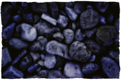 Blue Rocks Art Print by Jerry Golab