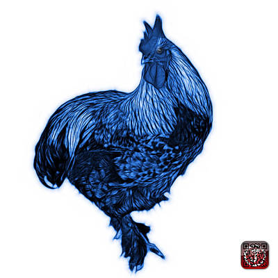 Painting - Blue Rooster - 3166 Fs by James Ahn