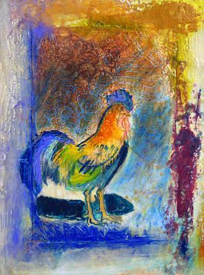 Blue Rooster Original by Gloria De los Santos