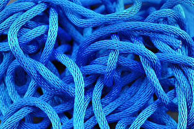 Ropes Photograph - Blue Rope by Chevy Fleet