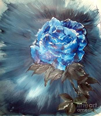 Painting - Blue Rose by Crystal Schaan