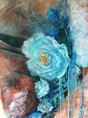 Painting - Blue Rose by Giti Ala