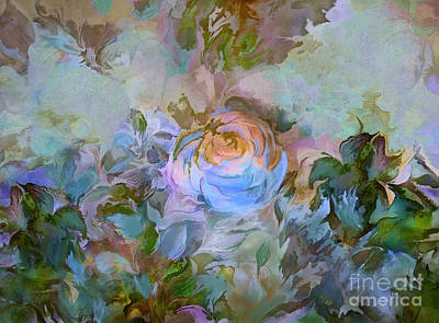 Digital Art - Blue Rose by Ursula Freer