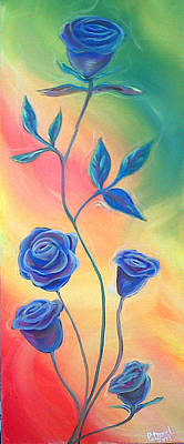 Painting - Blue Roses by Ross Daniel