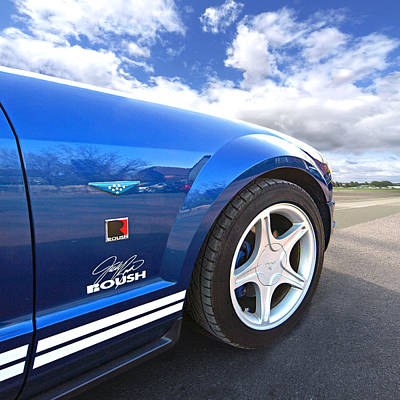 Ford Automobile Photograph - Blue Roush Mustang by Gill Billington