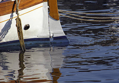 Photograph - Blue Rudder by Susie Rieple