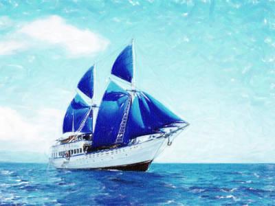 Pasta Al Dente - Blue Sail Pastel by MotionAge Designs