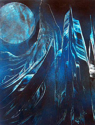 Painting - Blue Satin by Jason Girard